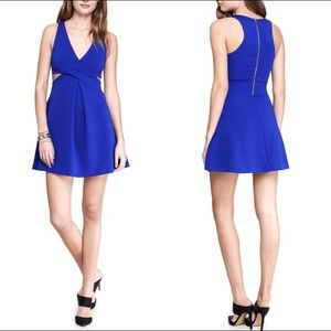 EXPRESS Blue Sweetheart Cut Out V-Neck Sleeveless